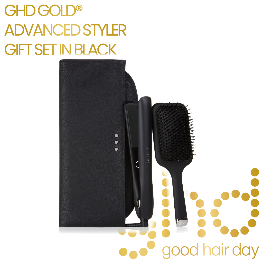 GHD GOLD ADVANCED STYLER GIFT SET IN BLACK